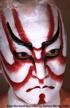 I'm inspired by how Kabuki makeup can transform a neutral expression into a fierce one.