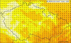 Teplota ve 2 m, Dnes 12 UTC (14 SELČ)