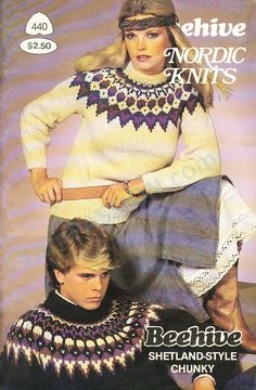 Patons 446 Knitting in the Round Sweater Knitting Patterns, Knit Patterns, Vintage Patterns, Nordic Sweater, Fair Isle Knitting, Free Knitting, Baby Knitting, Knitting Magazine, Chunky Wool