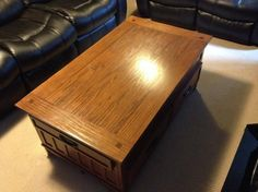 Moving it has to go! Coffee table is real wood and is cm long x cm wide Moving Furniture, Lift Top Coffee Table, Real Wood, Home Decor, Decoration Home, Room Decor, Interior Decorating