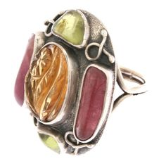 Ring | Fred Skaggs.   Sterling Silver and semi precious stones.  ca. 1960s.