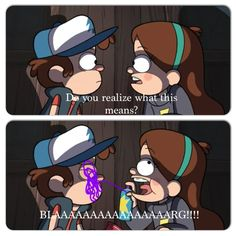 Haha! I made this from a Gravity Falls video. I made it with instacalloge.