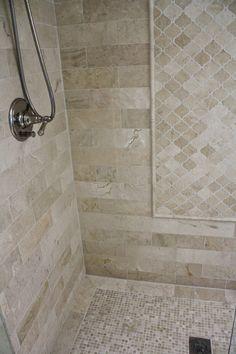 bathroom tile ideas Trendy Bathroom Shower Tile Neutral Toilets Ideas tile i Shower Tile Designs, Shower Tile Patterns, Bathroom Designs, Master Shower, Shower Remodel, Remodel Bathroom, Bathroom Flooring, Tile Flooring, Small Bathroom