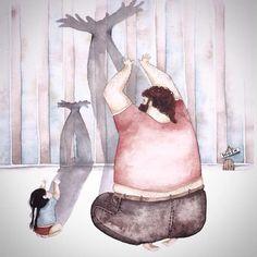 """""""L'artista ucraina Snezhana Soosh è una mamma di un bambino di 9 anni, ma è la paternità che ha ispirato le sue illustrazioni. Attraverso pennellate stravaganti di acquerello e inchiost…"""