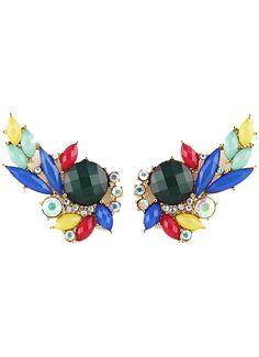 Multi Gemstone Gold Stud Earrings 0.00