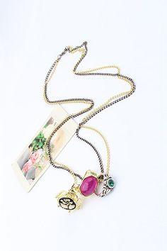 Ring Charm Pendant Necklace #Romwe