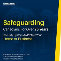 Secure Tech Alarm offers home security systems (Wireless Burglar Alarm, Security Camera, Alarm Monitoring Services) in Toronto, Vaughan, Richmond Hill. Best Home Security System, Security Cameras For Home, Alarm Monitoring, Protecting Your Home, Alarm System, Tech, Business, Store, Business Illustration