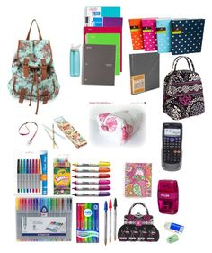 """Back to school(in my backpack)"" by mingofficial ❤ liked on Polyvore"