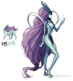 Digital Artist Turns Pokémon Characters Into Humans-Suicune