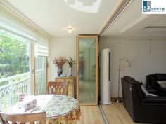 """서진폴딩도어 :: 폴딩도어 """" 의왕 1층 아파트 """" 시공사진 [시스템창호,폴딩도어,접이문,아우스바이튼]"""