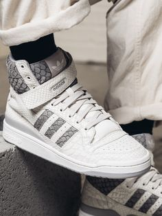 new concept dd81d 4dd60 adidas Originals Forum Hi OG Returns in Snakeskin  Carp
