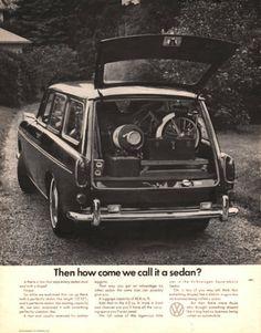 1968 Volkswagen Squareback Sedan car print ad by Vividiom on Etsy, $9.00
