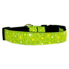 Mirage Pet Products Retro Nylon Ribbon Collar, Large, Lime Green ** Check out the image by visiting the link.