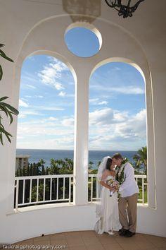 Beautiful wedding couple of the Fairmont Kea Lani Maui, Hawaii. Photo by www.TadCraigPhotography.com