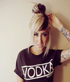 Stylish Updo with Bangs Hairstyle 2015