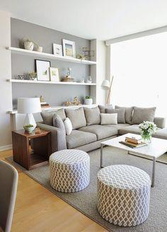 Inspiração para a decoração de sala com base neutra 3. #LivingRoom