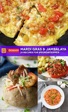 Easy jambalaya recipes start with @Zatarains   mixes and end with 20 #SundaySupper interpretations plus a recipe for Seafood Jambalaya Frittata.
