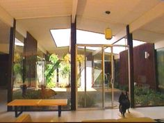 Eichler homes had very few walls, a lot of glass and a center atrium