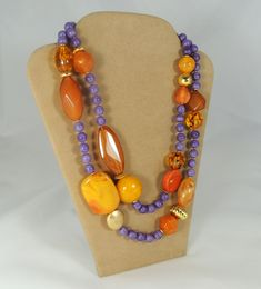 Collana forme fantasia - Ambra e Viola