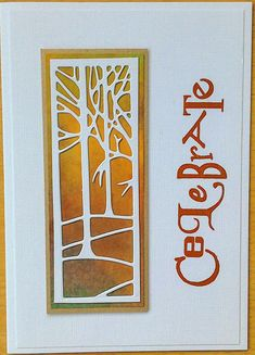 Clarity Fresh Cut Treescape die cut on designer papers - by Lynne Lee Clarity Card, Barbara Gray, Die Cutting, Paper Design, Color Palettes, Color Combos, Colorful Backgrounds, Card Ideas, Layouts