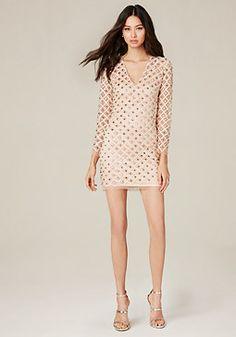 bebe Rachel Embroidered Dress