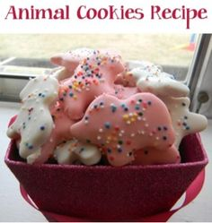 uper cute right? I knew right away I wanted to make A Circus Animal Cookies Recipe, but not just any kind... The Mothers ones with frosting and sprinkles.