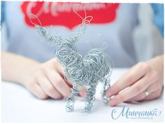 Wire-art New Year deer