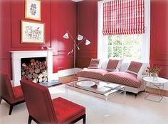 red walls / white trim