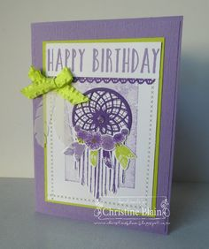 HAPPY HEART CARDS: STAMPIN' UP! FOLLOW YOUR DREAMS BIRTHDAY CARD