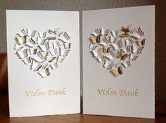 """Die schlichte Karte: Vielen Dank """"Butterfly Heart"""" von Memory Box, """"Vielen Dank"""" von La Blanche"""