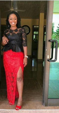 Tenue soirée African Wear Dresses, Latest African Fashion Dresses, African Print Fashion, Africa Fashion, African Attire, African Traditional Dresses, Traditional Outfits, African Lace Styles, Lace Dress Styles