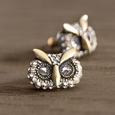 I just bought a giant owl necklace & love these earrings...but not worn together, of course. Too matchy matchy