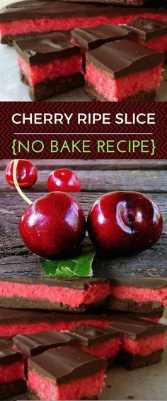 Cherry Ripe Slice Recipe No Bake Easy Make