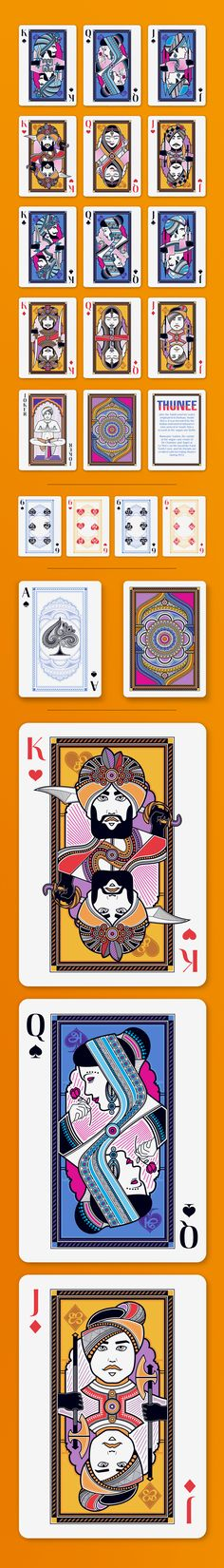 The Thunee Deck - Bicycle® Playing Cards Deck by Trumpmen — Kickstarter {pinner has page full of ideas}