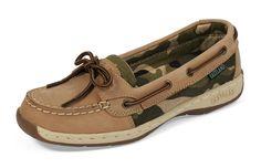 Women's Sunrise Boat Shoe Slip On - Tan Camo #eastlandshoe