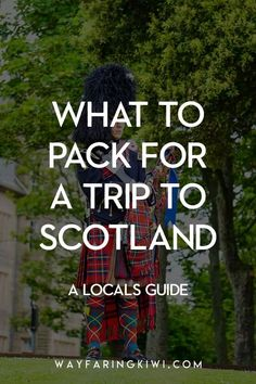 My guide on how to pack for a trip to Scotland like a local. My Scotland packing list includes what to pack for every se Scotland Hiking, Scotland Travel, Ireland Travel, Scotland Trip, Europe Travel Tips, Travel Packing, Travel Guides, Printable Packing List, Kiwi