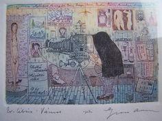 Gross Arnold: Ex-libris Vámos Ex Libris, Screen Printing, Vintage World Maps, Artist, Prints, Room Ideas, Paintings, Wall, Design