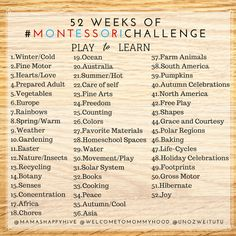 52 weeks of #montessorichallenge play to learn hosted by Mamas Happy Hive, Welcome to Mommyhood and Uno Zwei Tutu #montessori