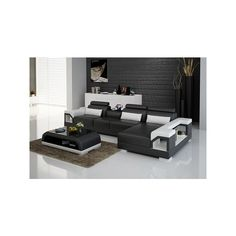 Pinciano Italian Leather Sectional via Polyvore featuring home, furniture, sofas, italian leather sofa, italian leather sectional, italian leather furniture and italian leather couches