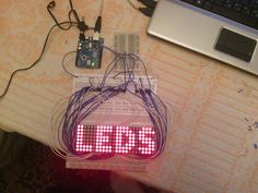 Arduino and Android programming: Matrix led display controlled by Arduino and Android