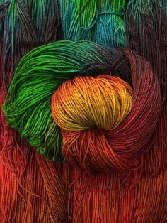 Sock - Pura Vida - rainbow Hand Dyed Merino Wool