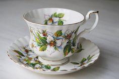 Royal Albert Teacup and Saucer, White Trillium Tea Cup