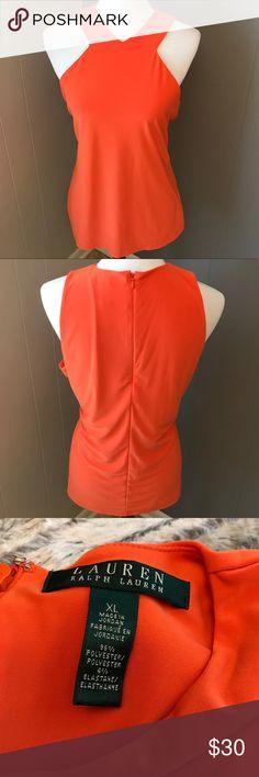 Lauren Sleeveless Top NWOT Orange Lauren Ralph Lauren Sleeveless Top.  Love the cutouts by the neck on this one! Lauren Ralph Lauren Tops