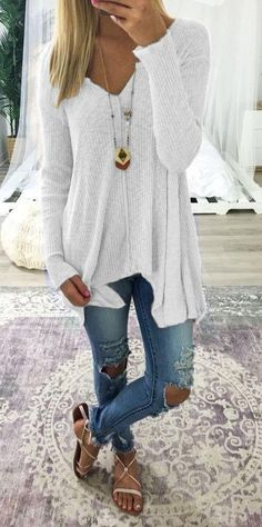 d4ca2c69930 V Neck Long Sleeve Irregular T Shirt Tops – boholooks