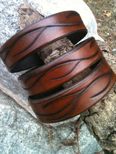 Walnut Vine Leather Cuff $20
