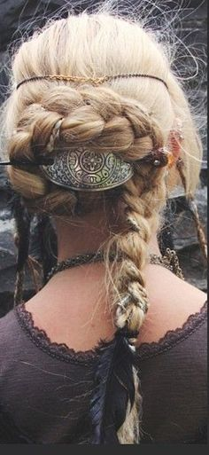Viking Inspired Hairstyle. Lovely!