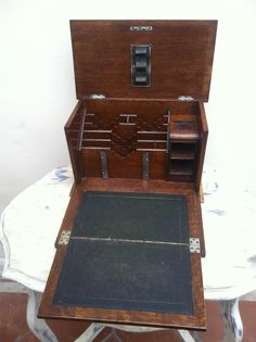 Antique Stationery Box / Writing Slope | eBay