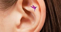 Hummingbird Tattoos on Ear | Worlds Style