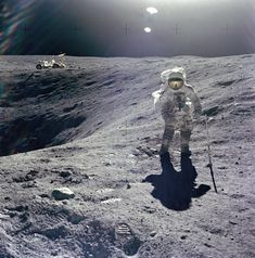 Duke on the Craters Edge #NASA #Astronaut #Space #Universe