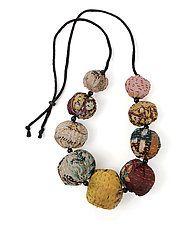 Silk Kantha Convertible Necklace by Mieko Mintz  (Silk Necklace)